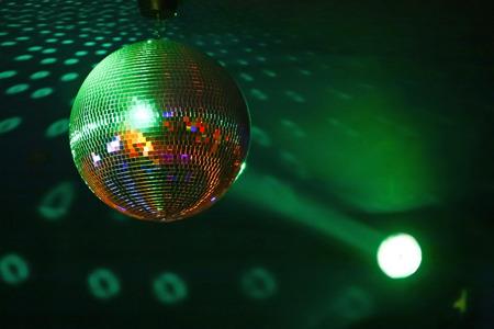 An isolated disco ball