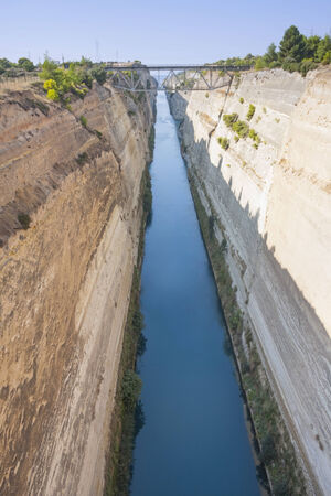 seaway: The Corinth Canal in Greece.