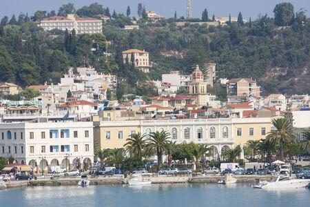 Una veduta della citt� di Zante, sull'isola di Zante, in Grecia. Archivio Fotografico