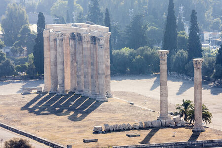 The ancient Temple of Olympian Zeus in Athens, Greece.