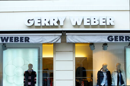 weber: ZAGREB, CROATIA - FEBRUARY 24 : The shop windows and logo of a Gerry Weber store on February 24th, 2014 in Zagreb, Croatia. Gerry Weber is a german manufacturer of women clothing. Editorial