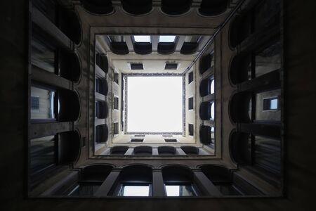 Venise, Italie - 15 février: Une vue de dessous de l'extérieur du Musée Archéologique de Saint-Marc