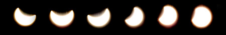 astronomical: Astronomical phenomenon, a partial solar eclipse viewed from Croatia on March 20th, 2015.