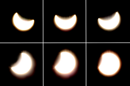 partial: Astronomical phenomenon, a partial solar eclipse viewed from Croatia on March 20th, 2015.