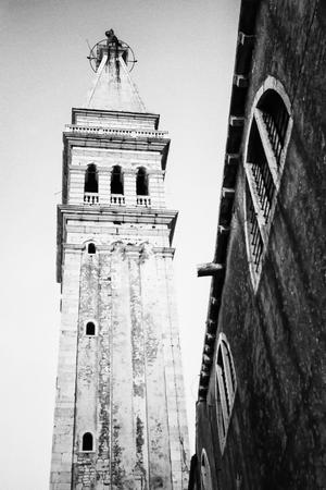 A view of the Saint Euphemia bell tower in Rovinj, Croatia. photo