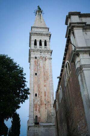 A view of the Saint Euphemia bell tower in Rovinj Croatia. photo