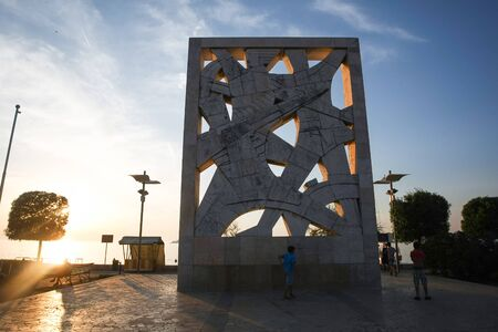 partisan: ROVINJ, CROATIA - JUNE 19 : People sightseeing the Monument to the victims of fascist terror of 1956 on the Valdibor square at sunset on June 19th, 2012 in Rovinj, croatia. Editorial