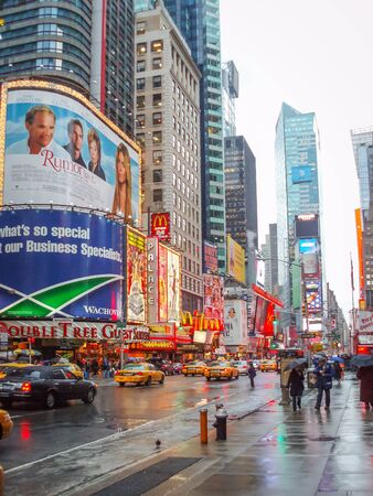NEW YORK CITY, USA - JANUARY 3 : The Times Square, major commercial intersection and neighborhood in Midtown Manhattan on January 3rd, 2006 in New York City, USA.