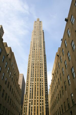 march 17th: NEW YORK CITY, USA - MARCH 17 : A low angle view of the 30 Rockefeller Center skyscraper, the centerpiece of Rockefeller Center in Midtown Manhattan on March 17th, 2005 in New York City, USA. Editorial