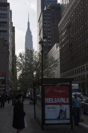 midtown manhattan: NEW YORK CITY, USA - APRIL 22 : A view of the Empire State Building from West 34th street in Midtown Manhattan on April 22nd, 2005 in New York City, USA. Editorial