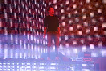 sensation: ZAGREB, CROATIA - APRIL 9, 2016 : Dj Alexander Som performing on La Fiesta Stage by Sensation party in Hypo center in Zagreb, Croatia.