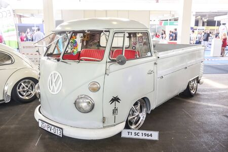 renewed: ZAGREB, CROATIA - JUNE 4, 2016 : A Volkswagen T1 SC 1964 exhibited at Fast and furious street race in Zagreb, Croatia.
