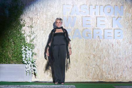 green and gold: ZAGREB,CROATIA - JUNE 3,2016 : Fashion designer Marija Cvitanovic on the Fashion Week Zagreb fashion show in the Green Gold Centre in Zagreb,Croatia.