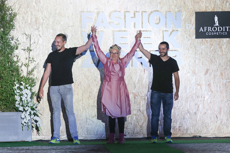 galas: ZAGREB, CROATIA - JUNE 3, 2016 : Fashion designer Igor Galas on the Fashion Week Zagreb fashion show in the park Green Gold Centre in Zagreb, Croatia. Editorial