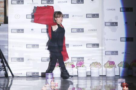 simone: ZAGREB, CROATIA - JUNE 4, 2016 : Fashion designer Simone Manojlovic on the Fashion Week Zagreb fashion show in the Green Gold Centre in Zagreb, Croatia.