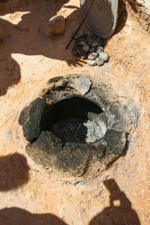 troglodyte: Traditional Berber oven where berber inhabitants cook food in troglodyte village in Matmata, Tunisia.