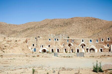 matmata: MATMATA, TUNISIA - SEPTEMBER 17, 2012 : The Matmata museum in berber village in south Tunisia. Matmata is famous for its troglodyte cave dwellings.