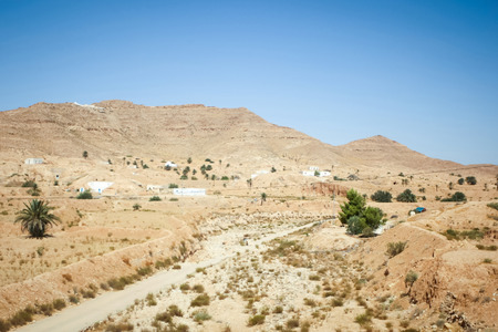 dwellings: The berber village of Matmata in south Tunisia. Matmata is famous for its troglodyte cave dwellings.