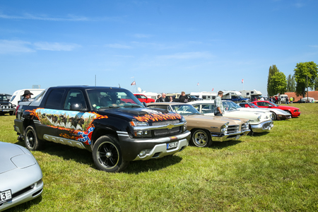 NANDLSTADT, GERMANY - MAY 6, 2017 : American automobiles displayed at the US Car meeting in Nandlstadt, Germany. Editorial