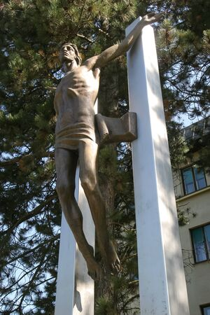 NASICE, CROATIA - 3rd SEPTEMBER, 2005 : The memorial feature of Risen Croatia in downtown of the Nasice, Croatia.