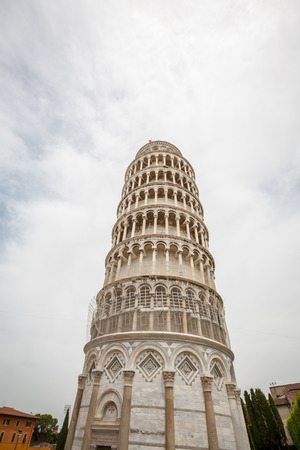 The Leaning Tower of Pisa, freestanding bell tower in Pisa, Italy.