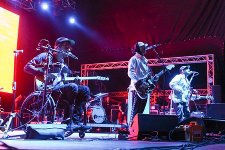 ZAGREB, CROATIA - 27th June, 2018 : American rock band Portugal. The Man performs on the 13th INmusic festival located on the lake Jarun in Zagreb, Croatia.