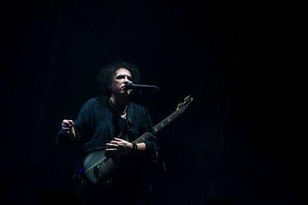 Zagreb, Croatia - 26th June, 2019 : The Cure performs on the 14th INmusic festival located on the lake Jarun in Zagreb, Croatia. Editorial