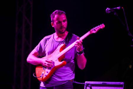 Zagreb, Croatia - 26th June, 2019 : Post rock instrumental band The Ills performs on the 14th INmusic festival located on the lake Jarun in Zagreb, Croatia.