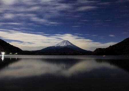 nightview: mt fuji and nightview