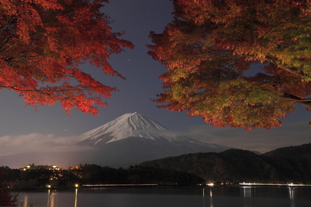 nightview: nightview of mt fuji