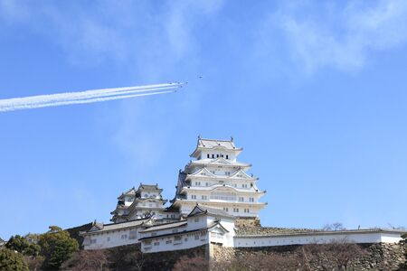 impulse: Himeji Castle and Blue Impulse