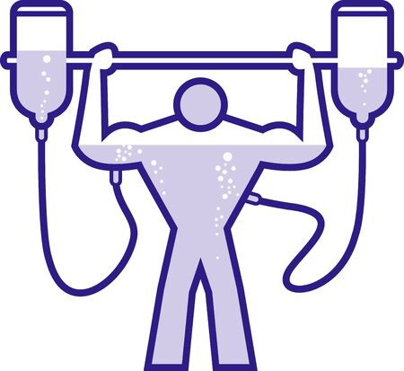 steroid: Illustration of a doped body builder