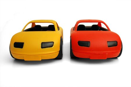 limbo: Clear coloured small car toy Stock Photo