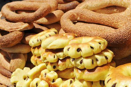 seider: characteristic holy bread at jerusalem gate  Stock Photo