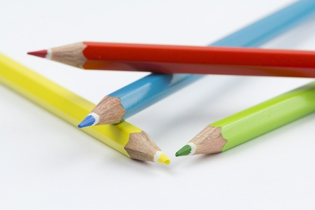 assortment of coloured pencils Stock Photo - 17687461