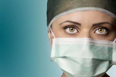 ojos azules: Enfermera de la sala de operación