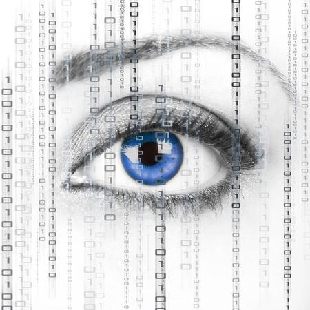 Digital Surveillance Stock Photo
