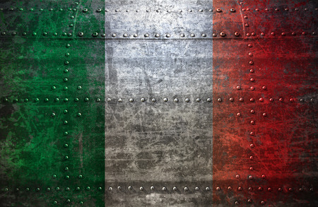 anthem: Italian Flag On a  Metal Texture