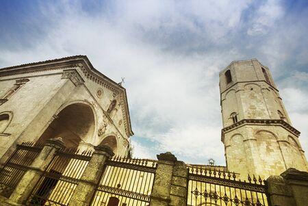 architectural architectonic: San Michele Arcangelo Sanctuary of Monte SantAngelo. Gargano, Puglia, Italy. Stock Photo