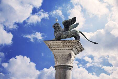 st marks square: Venice Lion of St. Marks Square
