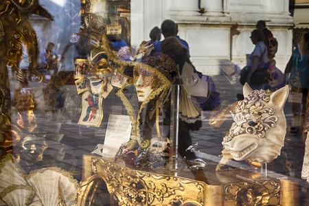 wildcard: Sale in a typical Venetian masks shop Venice