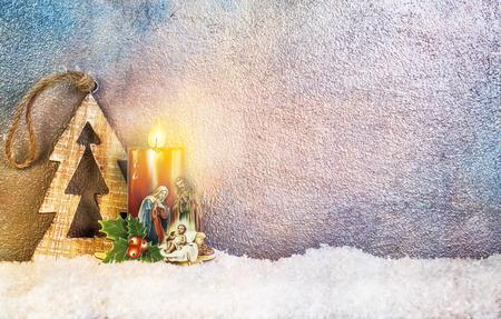 guarder�a: Natividad debajo de la nieve - Feliz Navidad