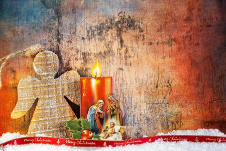 catholic angel: Nativity under Snow - Merry Christmas