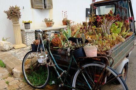 Italian piaggio and bicycle