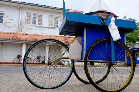 Tricycle in the village of galle Sri Lanka