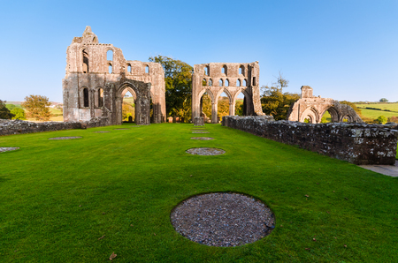 abbey ruins abbey: Ruins of the Dundrennan Abbey Scotland