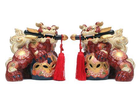 figurines: Japanese Shi-Shi Guardian Figurines
