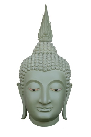 BUDDHA HEAD STATUE Stock Photo