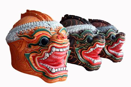 Native Thai style mask, used in royal performance photo