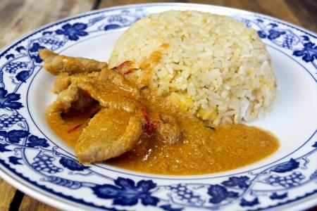 Savory curry with pork name Pa Nang photo